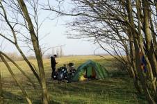 Unser Wildcampingplatz auf der Szentendre-Insel